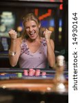 Woman Winning At Roulette Tabl...