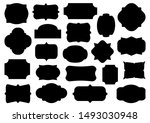 retro labels. black collection... | Shutterstock .eps vector #1493030948