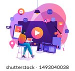 illustration design concept...   Shutterstock .eps vector #1493040038