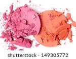 crushed blush isolated on white  | Shutterstock . vector #149305772