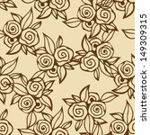 floral seamless pattern with... | Shutterstock .eps vector #149309315