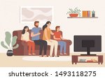 Family Watching Television...