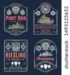 vector vintage thin line style... | Shutterstock .eps vector #1493125652