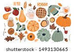 autumn set with hand drawn... | Shutterstock .eps vector #1493130665