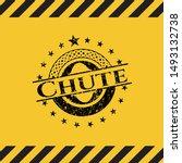chute black grunge emblem ... | Shutterstock .eps vector #1493132738