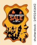 halloween sale special offer... | Shutterstock .eps vector #1493141642