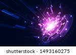 abstract futuristic digital... | Shutterstock .eps vector #1493160275