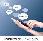 hand holding modern mobile... | Shutterstock . vector #149316092