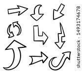 arrow doodle. arrow   vector | Shutterstock .eps vector #1493174678