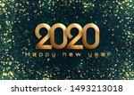 bokeh sparkle christmas 2020...   Shutterstock .eps vector #1493213018