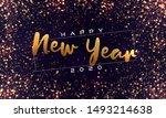 bokeh sparkle christmas 2020...   Shutterstock .eps vector #1493214638