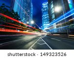 modern city at night  hong kong ... | Shutterstock . vector #149323526
