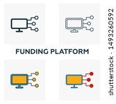 funding platform outline icon....