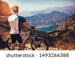 Athletic Sportsman Cyclist...