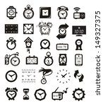 clock icons set | Shutterstock .eps vector #149327375