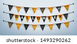 halloween buntings for happy... | Shutterstock .eps vector #1493290262