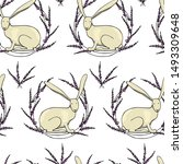 vector seamless pattern with... | Shutterstock .eps vector #1493309648