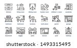 home rooms line icons. living... | Shutterstock .eps vector #1493315495