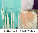 colorful colors scattered on...   Shutterstock . vector #1493325095