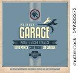 auto service retro poster...   Shutterstock .eps vector #149333372