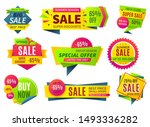 sale banners. price stickers... | Shutterstock . vector #1493336282