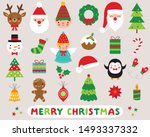 christmas cartoon vector design ... | Shutterstock .eps vector #1493337332