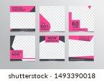 set modern square editable... | Shutterstock .eps vector #1493390018