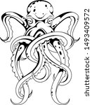 octopus decorative tattoo on... | Shutterstock .eps vector #1493409572