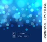 blue bokeh lights vector image. ... | Shutterstock .eps vector #1493448158