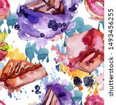 Tasty Cake In A Watercolor...