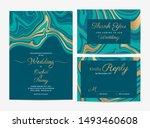 marble wedding invitation cards ... | Shutterstock .eps vector #1493460608