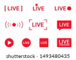 set of live streaming icons.... | Shutterstock .eps vector #1493480435