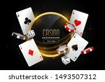 casino background with playing... | Shutterstock .eps vector #1493507312
