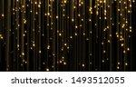Golden Glitter Rain  Bright...