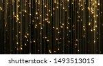 golden rain  gold glitter... | Shutterstock . vector #1493513015