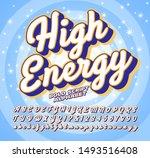 bold script vector alphabet ... | Shutterstock .eps vector #1493516408