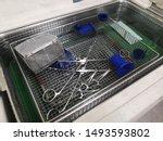 procedure to clean medical... | Shutterstock . vector #1493593802