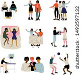 friends spending time together... | Shutterstock .eps vector #1493597132
