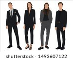 vector of young businessman and ... | Shutterstock .eps vector #1493607122