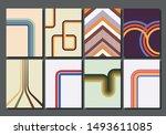set of vintage backgrounds from ... | Shutterstock .eps vector #1493611085