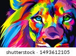 Amazing Lion Artwork   Colorfu...