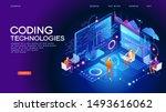 programming web banner. best... | Shutterstock .eps vector #1493616062