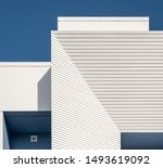 Detail Of A White And Blue...