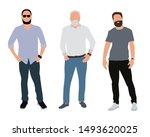 three men with beards. vector...   Shutterstock .eps vector #1493620025