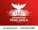 indonesian holiday pancasila... | Shutterstock .eps vector #1493623388