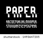 vector of stylized  paper font... | Shutterstock .eps vector #1493647205