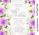 wedding invitation or card with ... | Shutterstock .eps vector #149364746