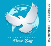 international peace day emblem. ... | Shutterstock .eps vector #1493658302