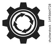 abstract gear and arrows icon....