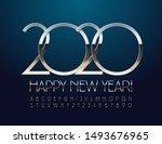 vector chic happy new year 2020 ... | Shutterstock .eps vector #1493676965